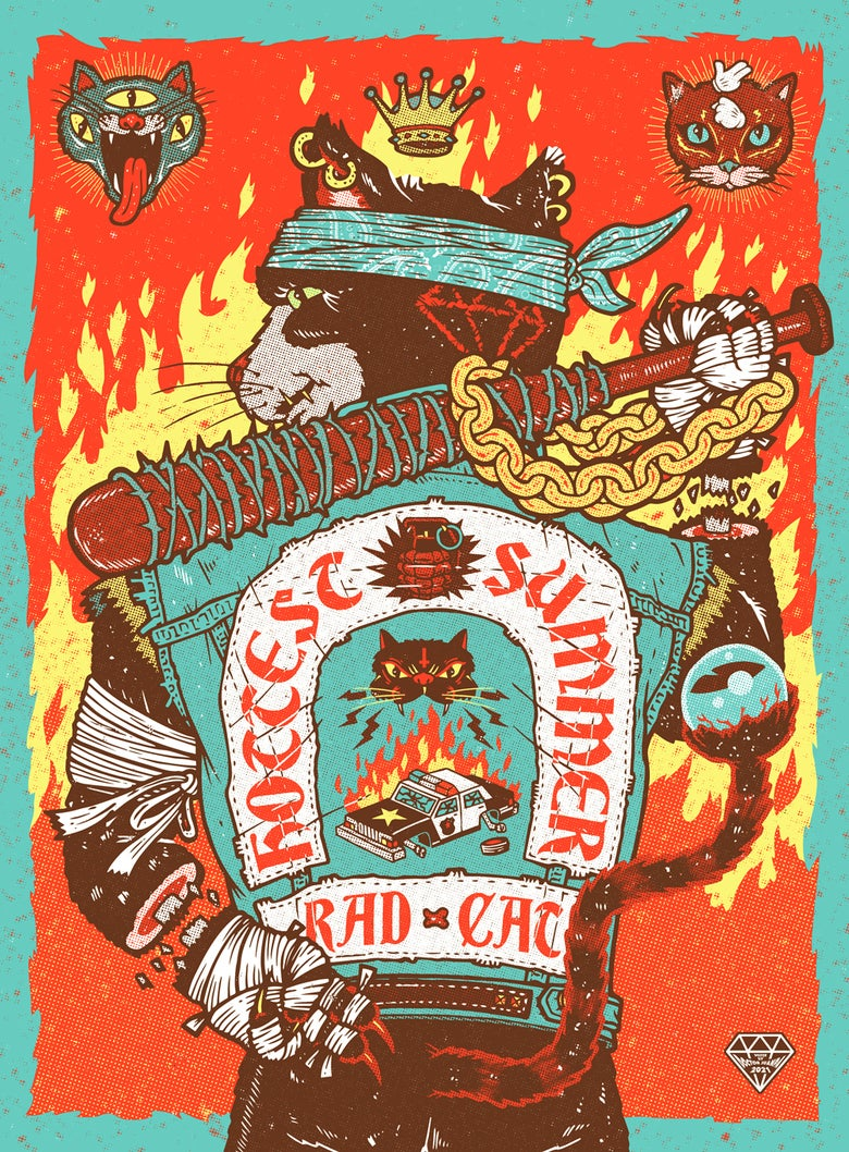 Image of Rad Cat Poster (Regular)