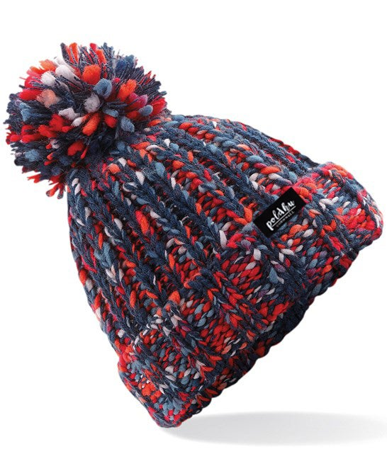 TWISTER BOBBLE HAT - FIRE RED.