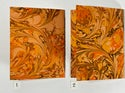 Marbled Notebook Orange (a) Canson Mi-Teintes Collection