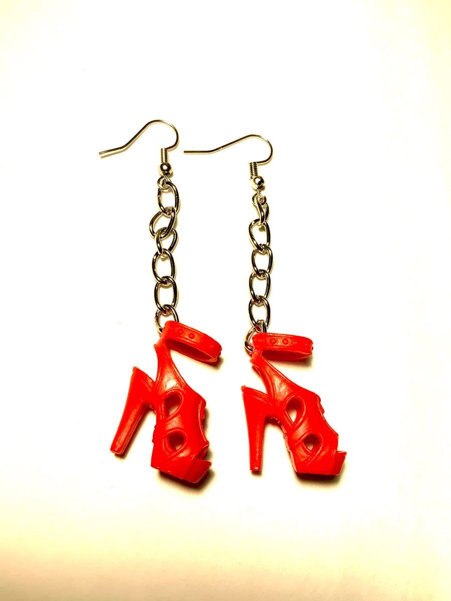 Image of Red Barbie Sandal Earrings