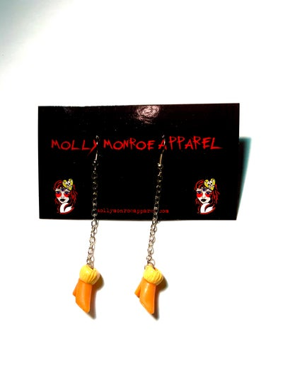 Image of Polly Pocket Orange Boots Earrings