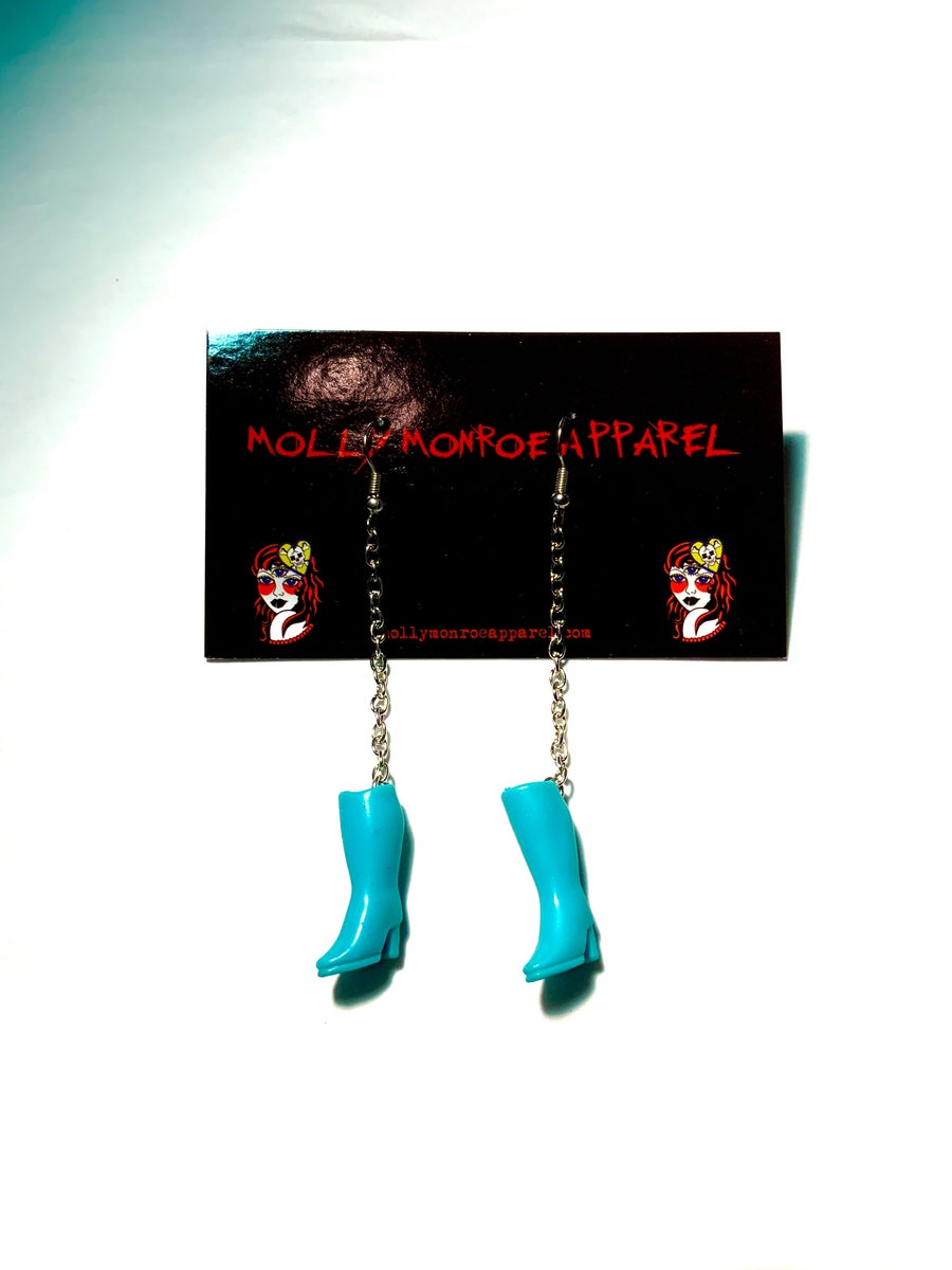 Image of Polly Pocket Blue Boots Earrings