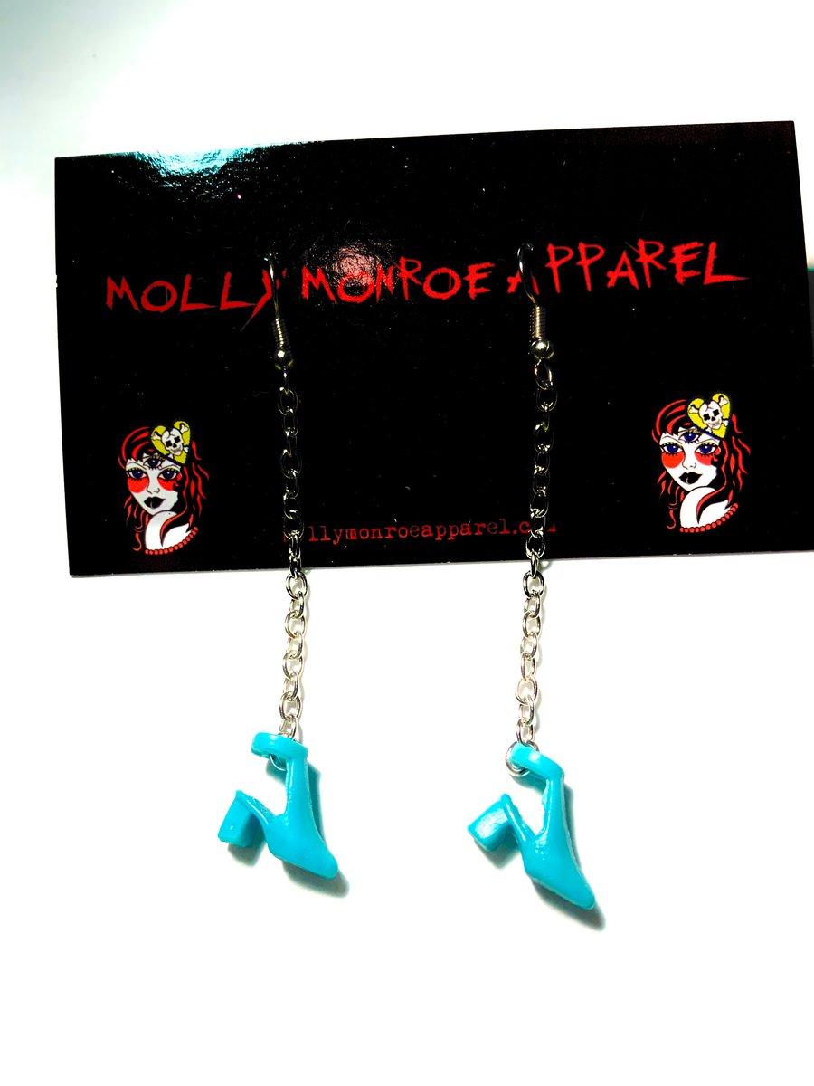 Image of Polly Pocket Blue Heels Earrings