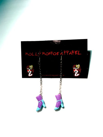 Image of Polly Pocket Purple and Blue Boots Earrings