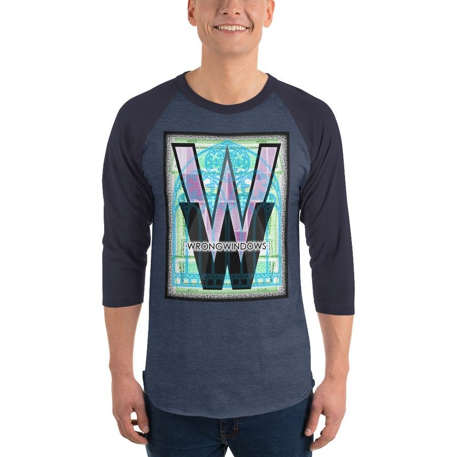 Image of WW 3/4-Sleeve Raglan Shirt (Logo Variation #5 on Dark Fabric)