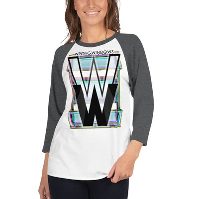 Image of WW 3/4-Sleeve Raglan Shirt (Logo Variation #4 on Pale Fabric)