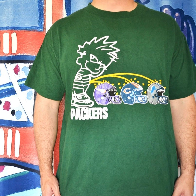 """Image of Vintage 1990's Green Bay Packers """"NFC North"""" Oneita T-Shirt Sz.XL"""