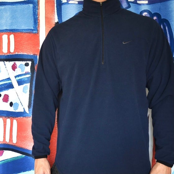 Image of Vintage 2000's Nike Air Mini Swoosh Therma Fit Fleece Sweatshirt Sz.M