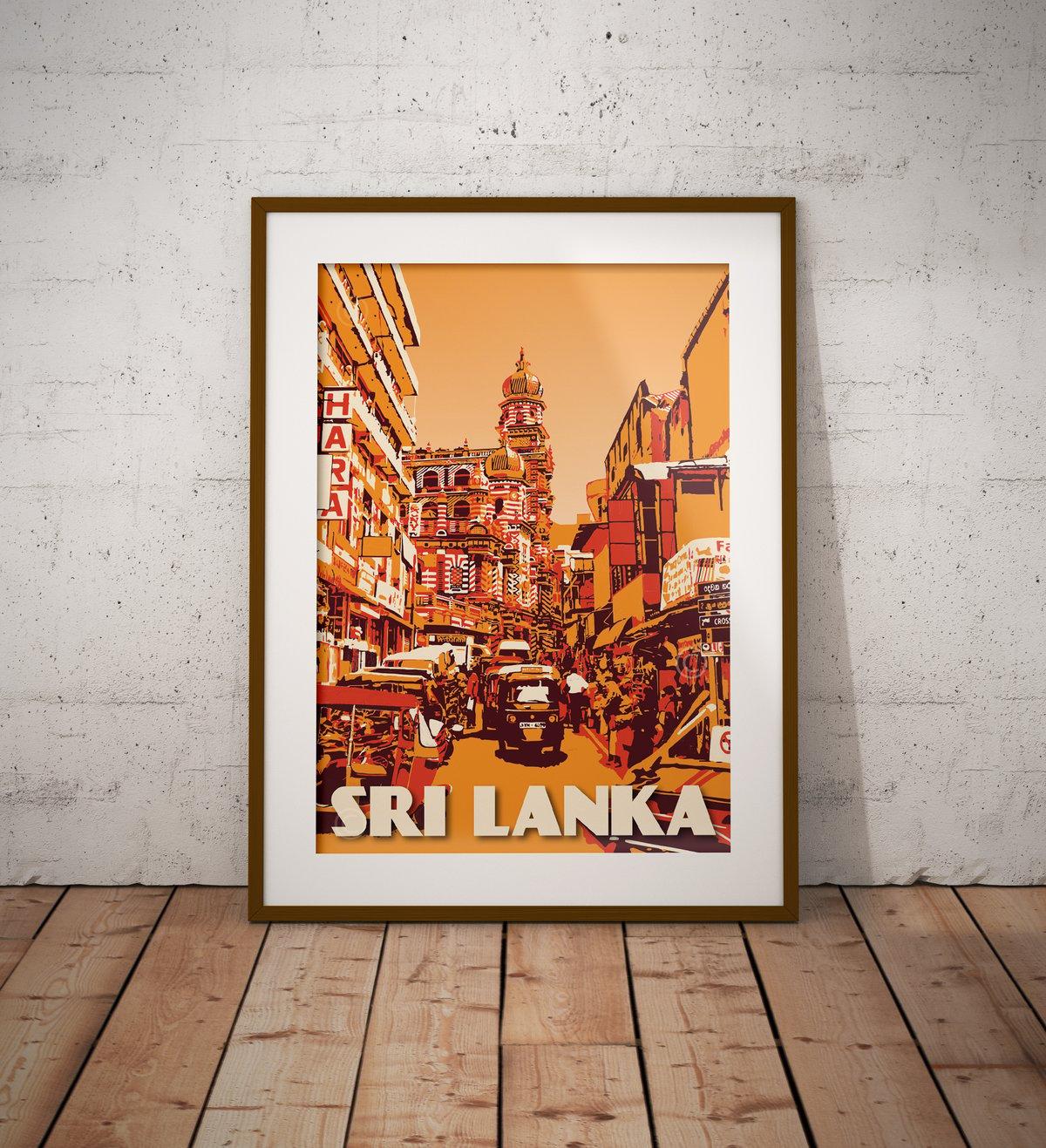 Image of Vintage Poster Sri Lanka - Colombo - Fine Art Print