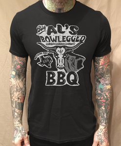 Image of BIG AL'S BOWLEGGED BBQ BLACK TEE