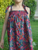 Image 2 of Robe liberty ciara fuschia et smocks