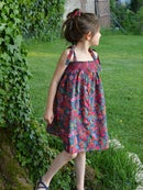 Image 1 of Robe liberty ciara fuschia et smocks
