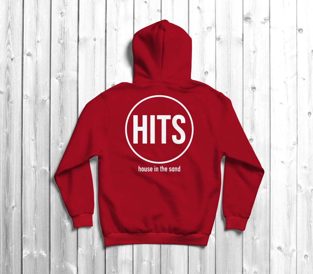 Image of Classic Collection: HITS logo hoodie in red