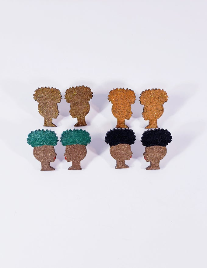 Image of High Puff Stud Earrings