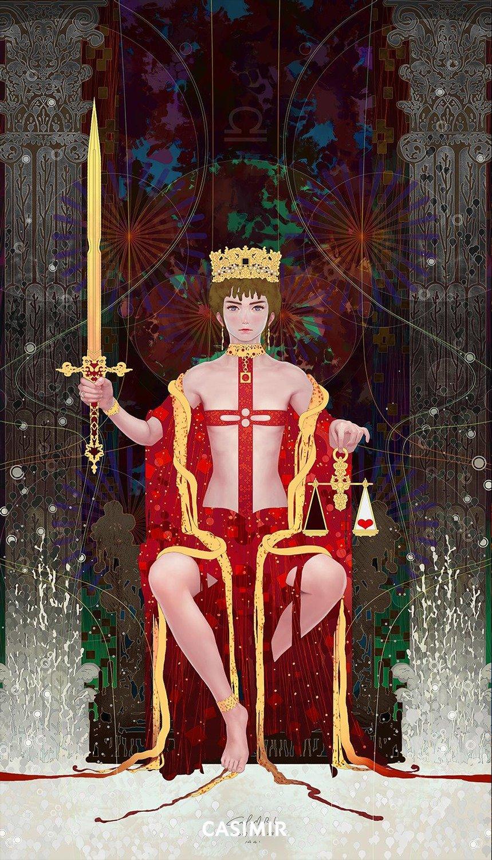 Tarot Series - Limited Print  11.Justice / 正義 塔羅牌系列 限量版畫