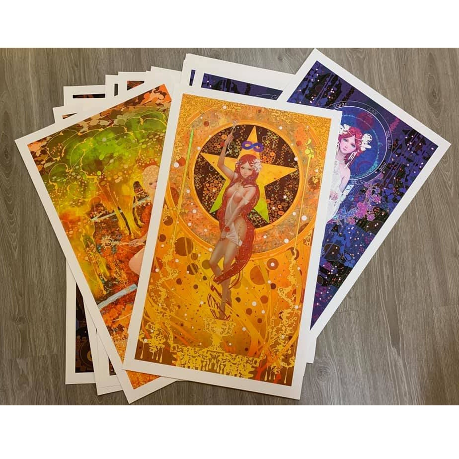 Tarot Series - Limited Print 18.The Moon / 月亮 塔羅牌系列 限量版畫