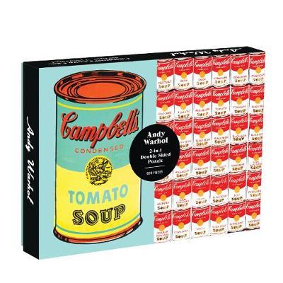 Image of Andy Warhol Soup Can 2-sided 500 Piece Puzzle