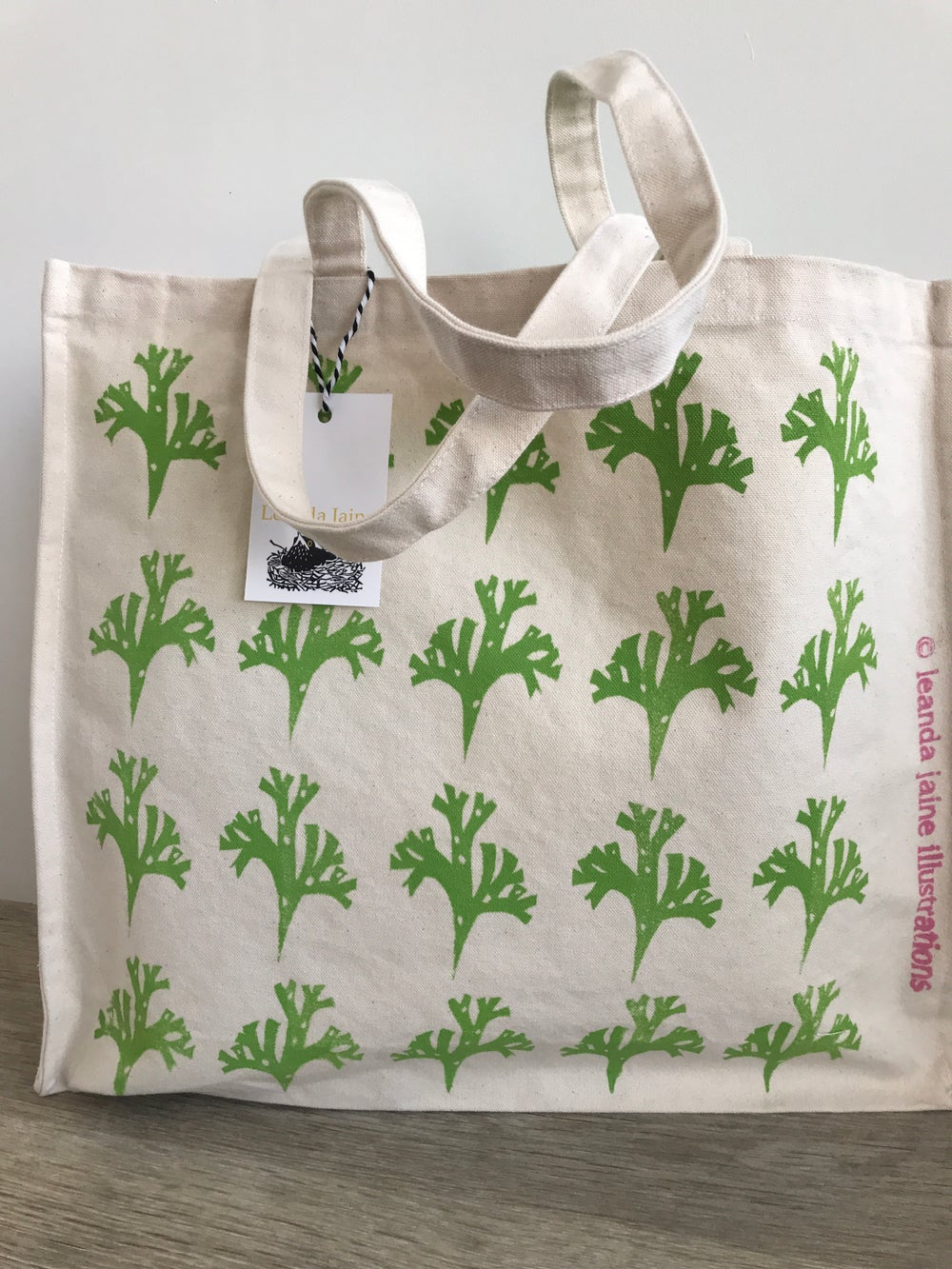 Image of Green seaweed shopper