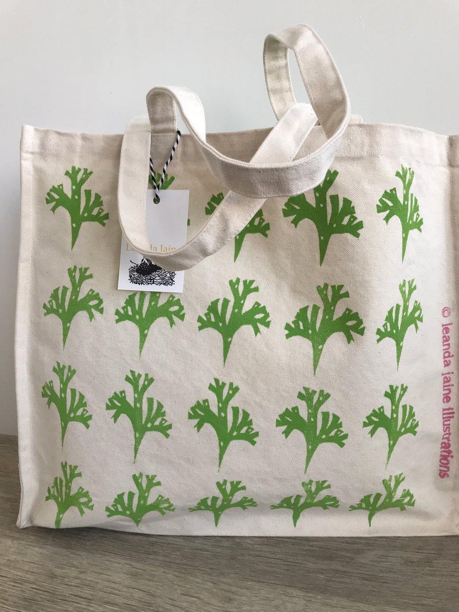 Image of Green seaweed shopper