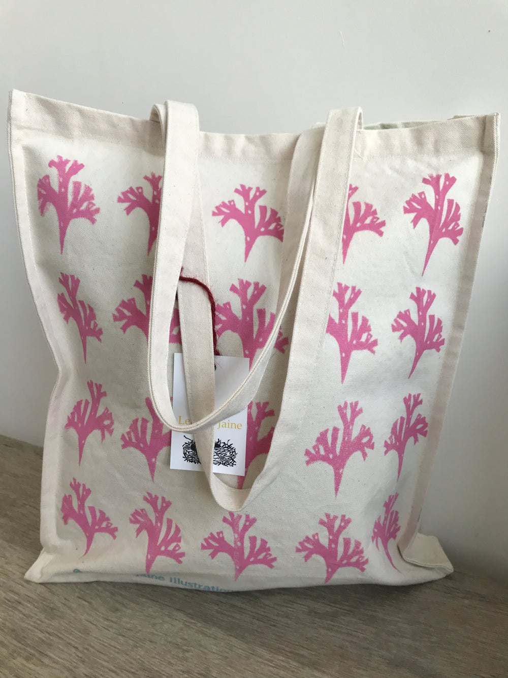 Image of Pink seaweed shopper
