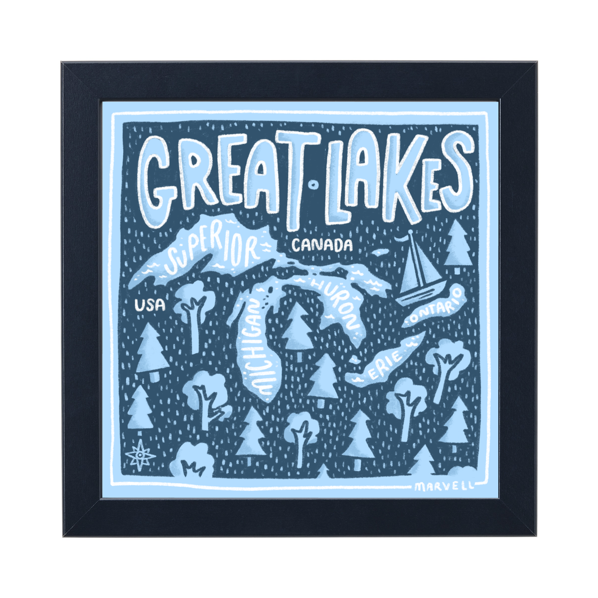 Image of Great Lakes Print!