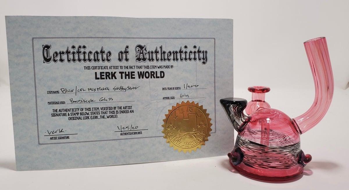 Image of Lerk the World - Blu_V/CFL Stubby Sitter w/ Certificate
