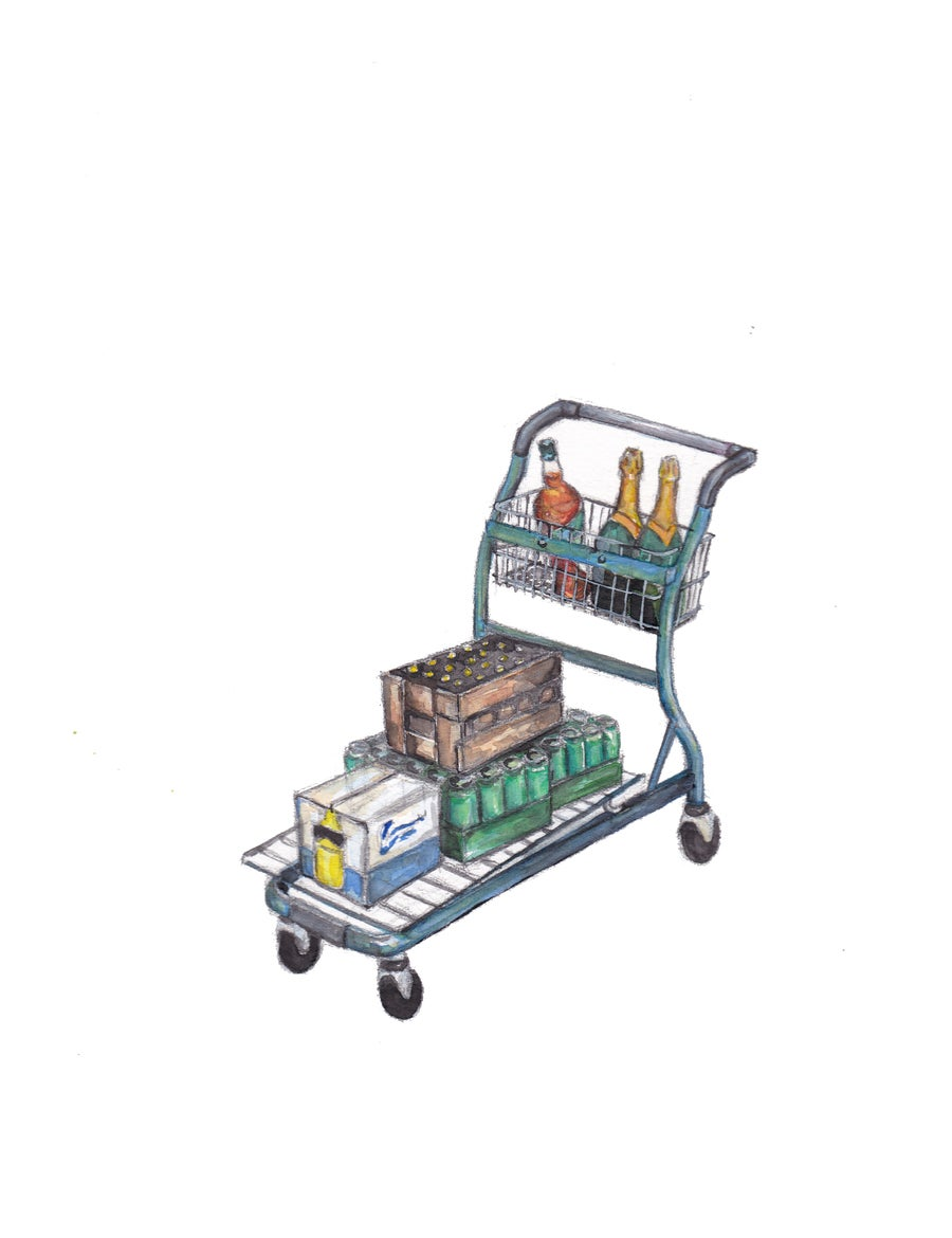 Image of Drawing 'Shopping alcohol' (2020)