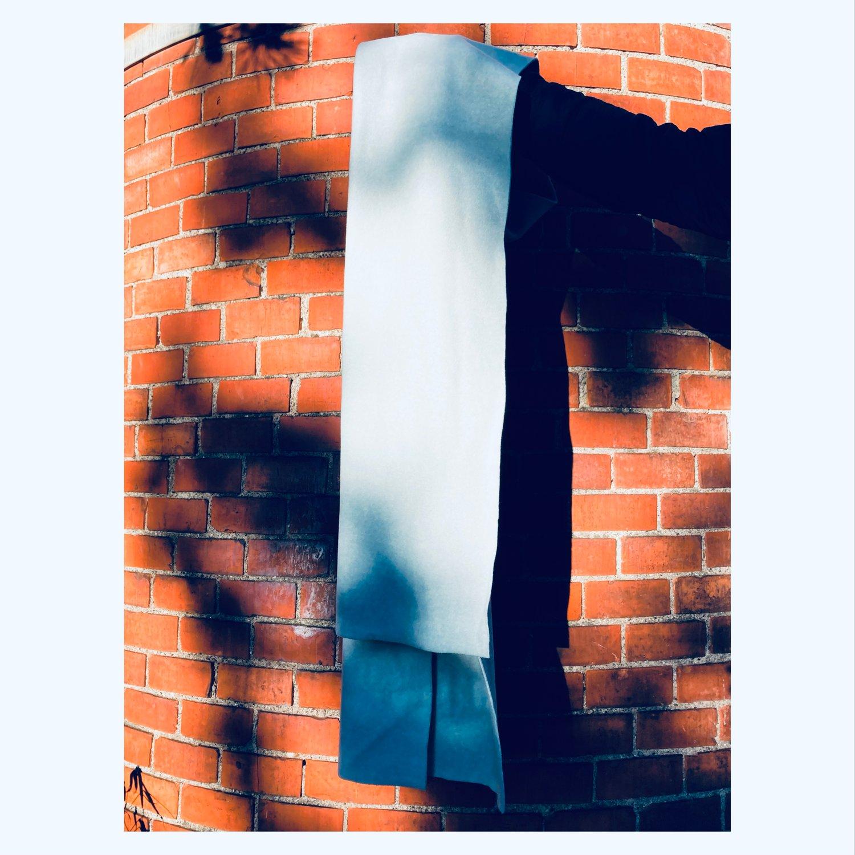 FLEECE scarf - SKYBLUE