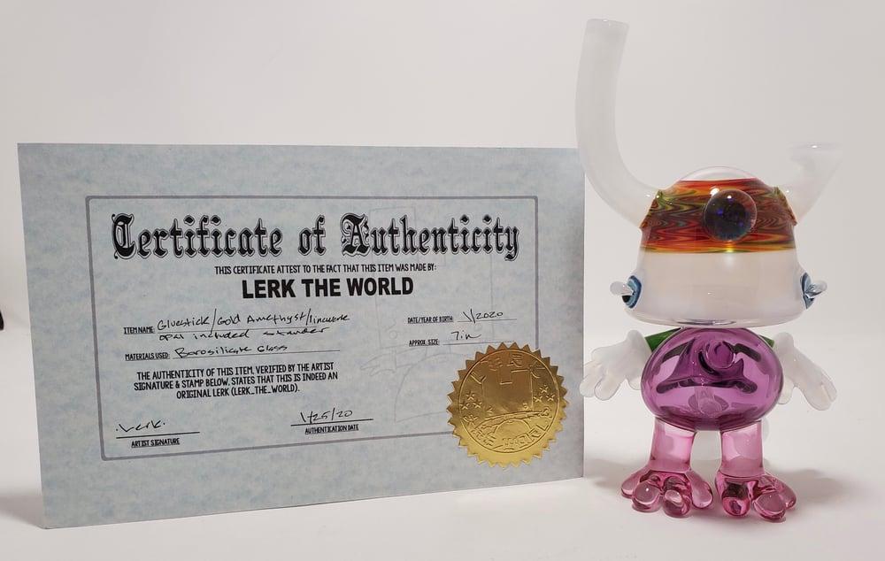 Image of Lerk The World - Gluestick / Gold Amethyst w Opal w/ Certificate