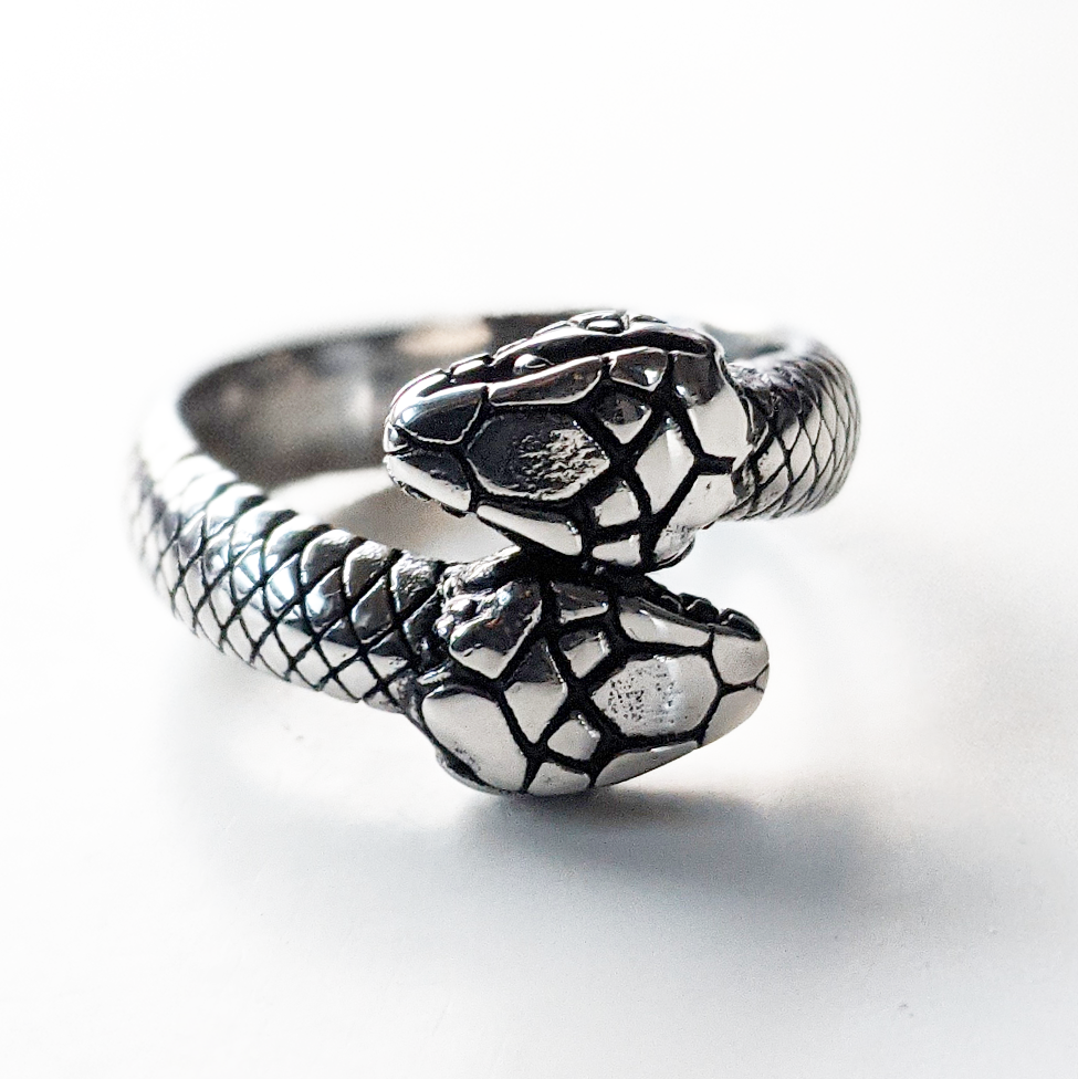 Image of Double Headed Snake Ring
