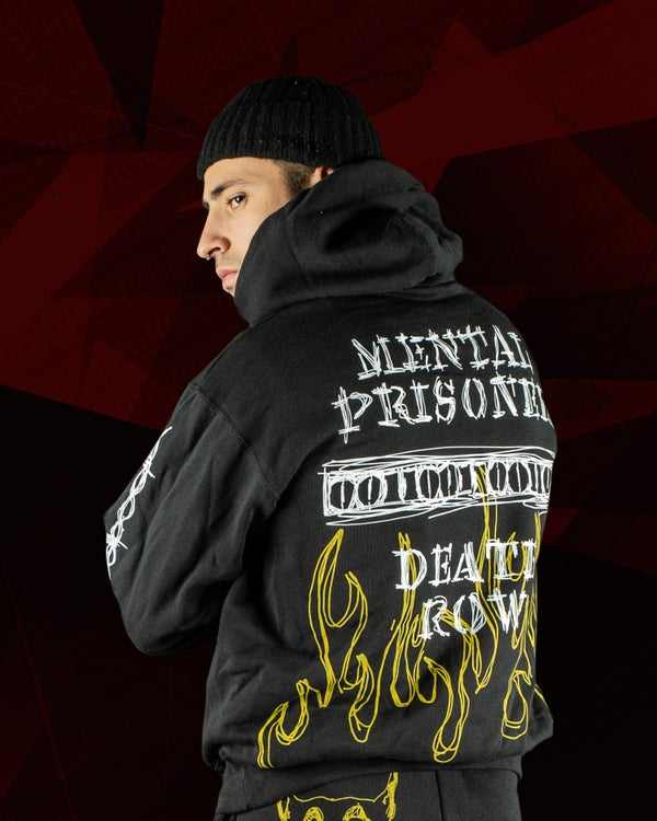 MOSTRO - FELPA MENTAL PRISONER WAR ZONE BLACK - HONIRO STORE