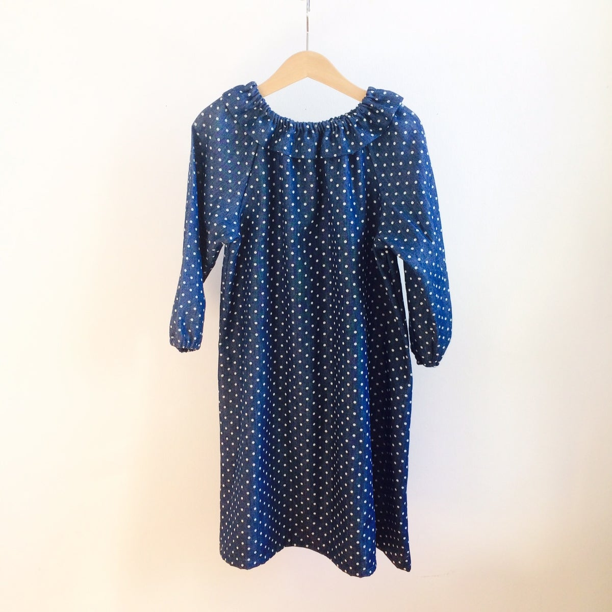 Mavie Dress - blue with dots