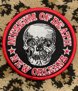 Image of Museum of Death New Orleans Logo Embroidered Patch