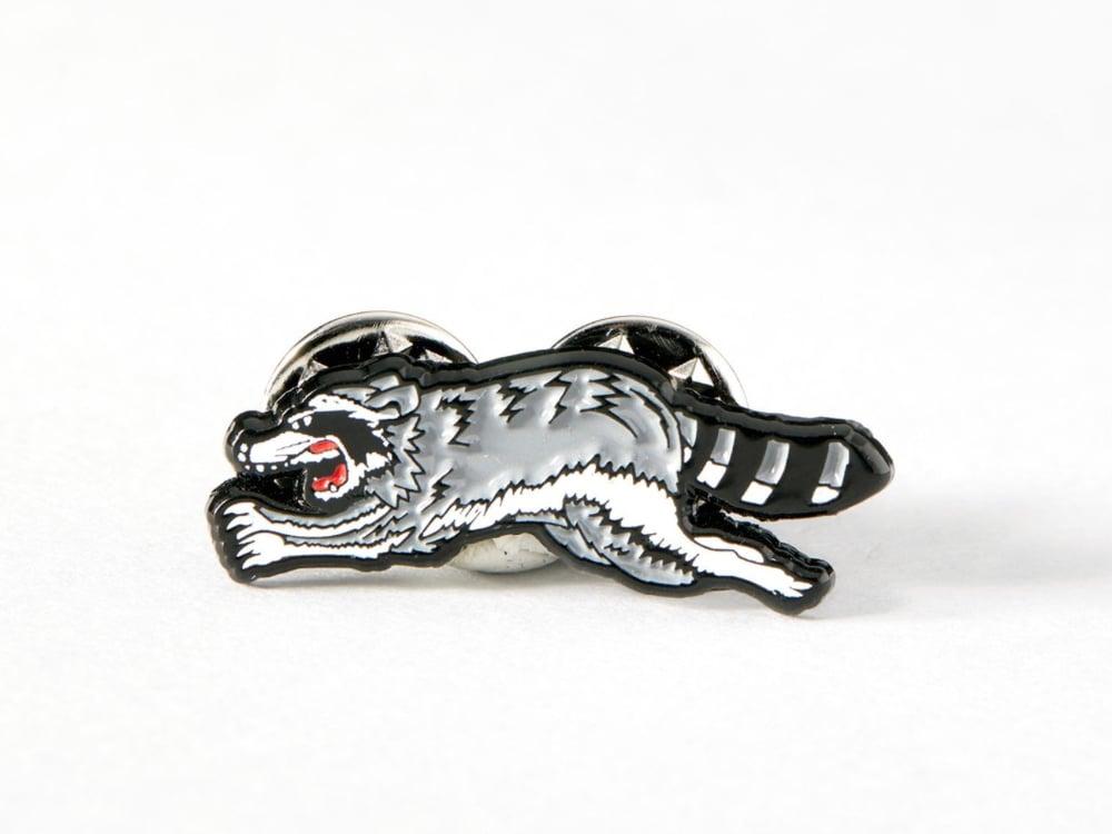 Image of Trash Cat pin badge
