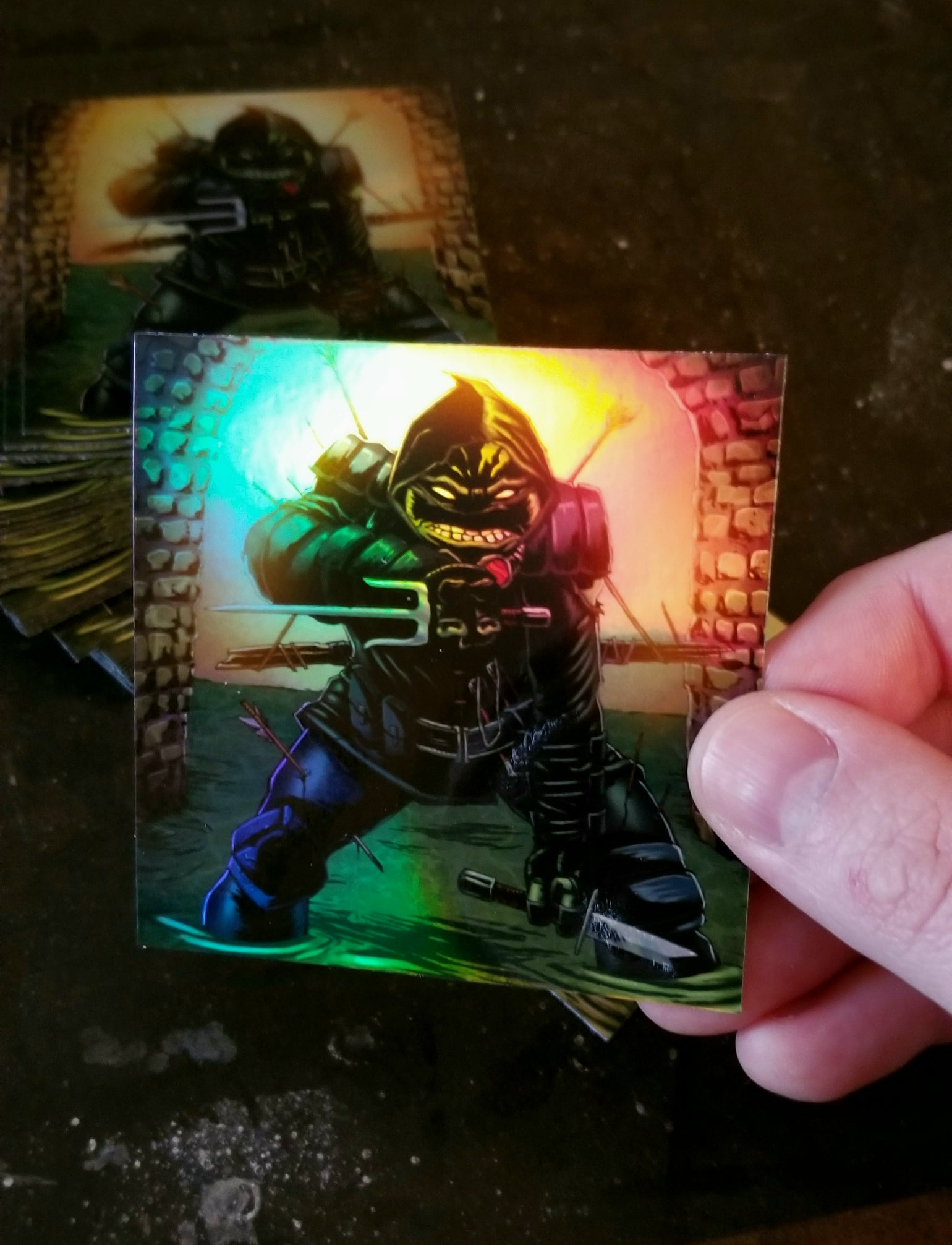 """Image of """"FOR MY FAMILY"""" - The Last Ronin Limited Holographic Sticker"""