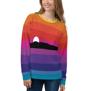 "Image of Sleeping Lady Retro ""Knit"" Sweatshirt"