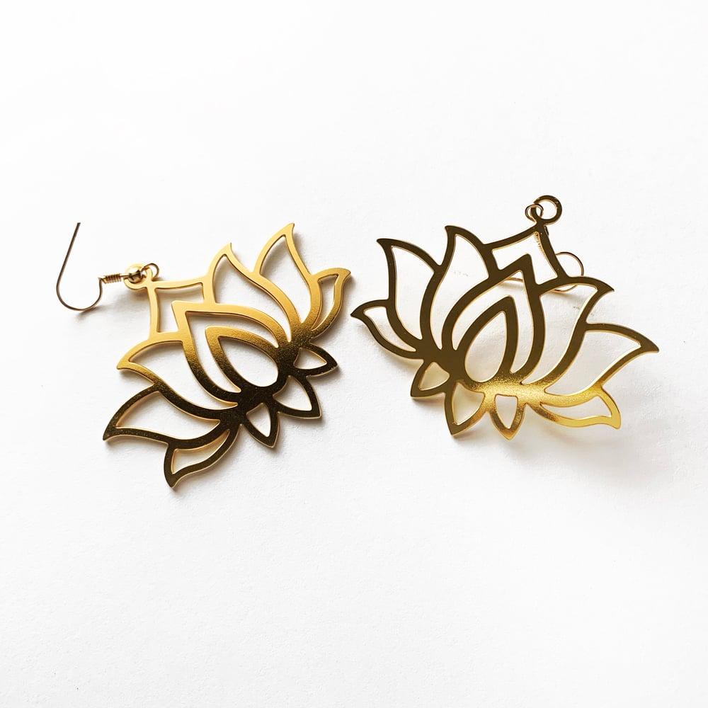 Image of Lotus Earrings PREORDER