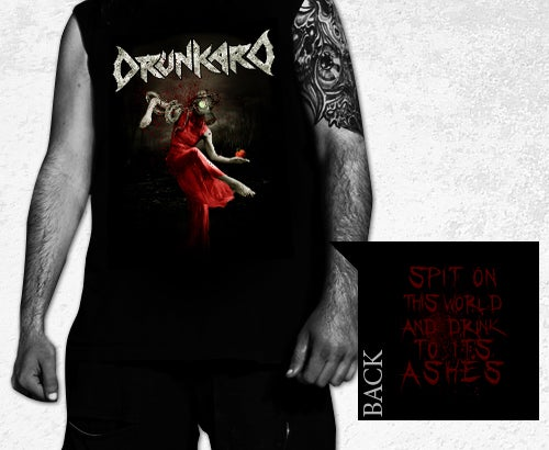 Image of DRUNKARD SPIT ON THIS WORLD T-SHIRT