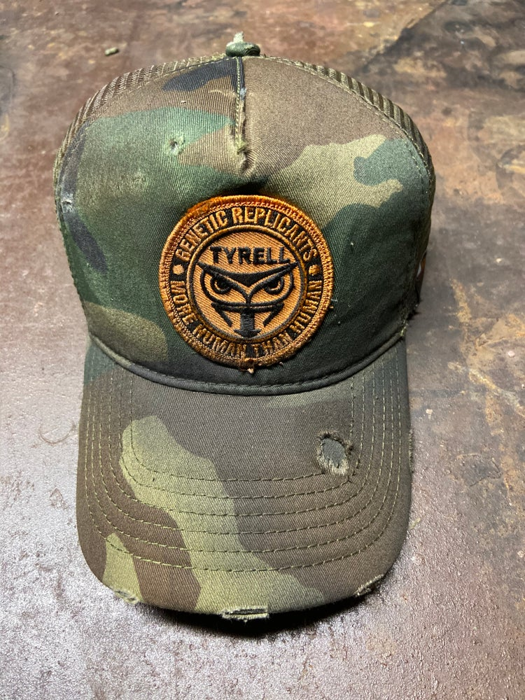Image of Tyrell Yellow SnapBack in Camo and Orange