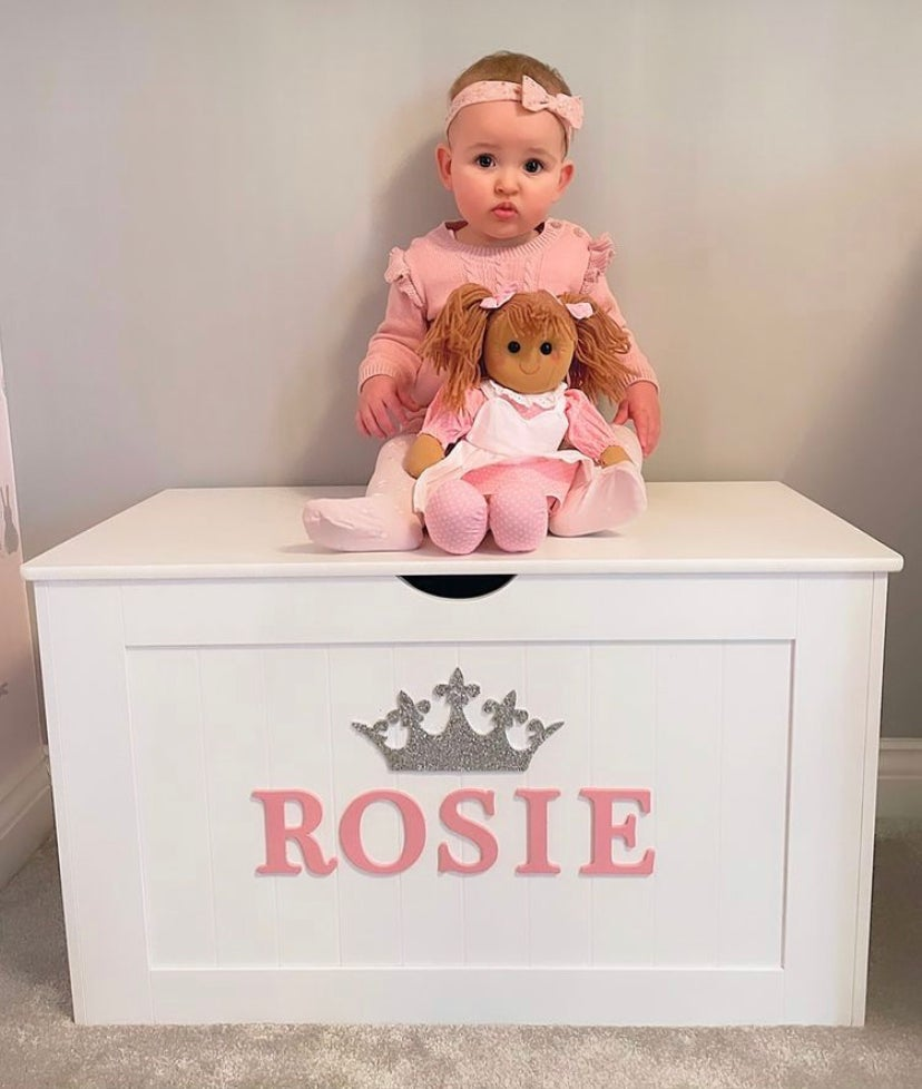 Image of Girls Personalised Chest - Wooden Top  ***DELIVERY AFTER 1st AUGUST***