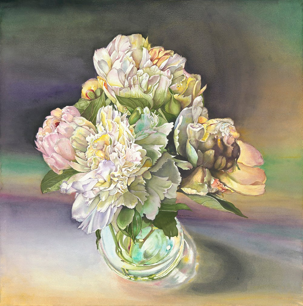 Image of WHITE PEONIES (Unframed)
