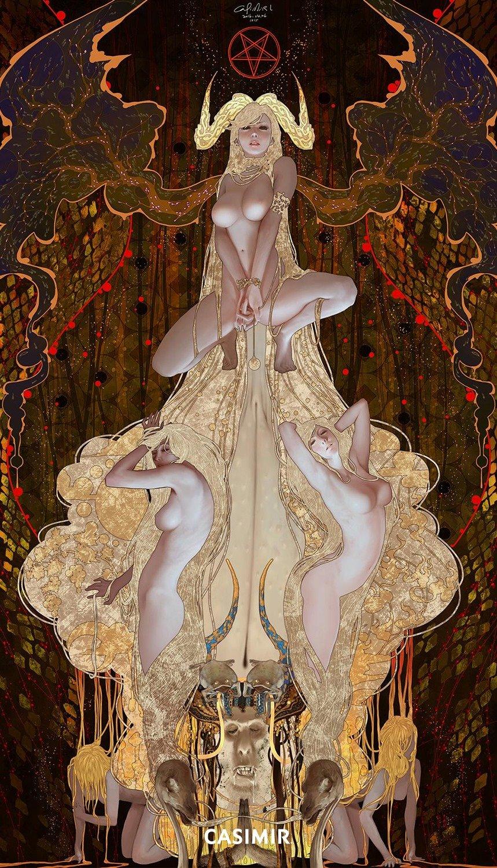 Tarot Series  - Limited Print  15.The Devil / 惡魔 塔羅牌系列 限量版畫
