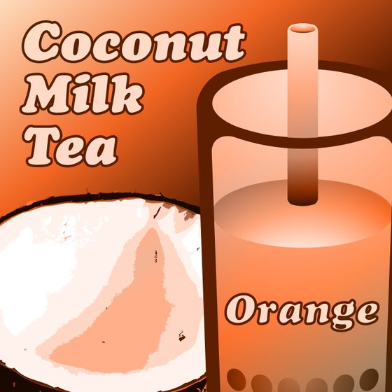 Image of Coconut Milk Tea - Orange