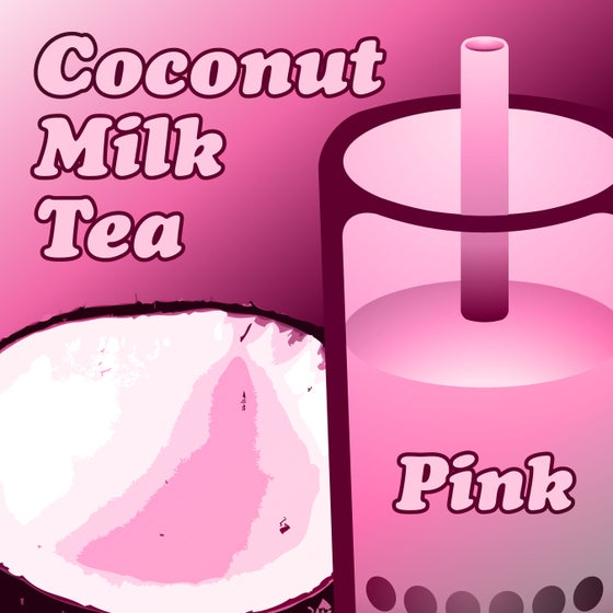 Image of Coconut Milk Tea - Pink
