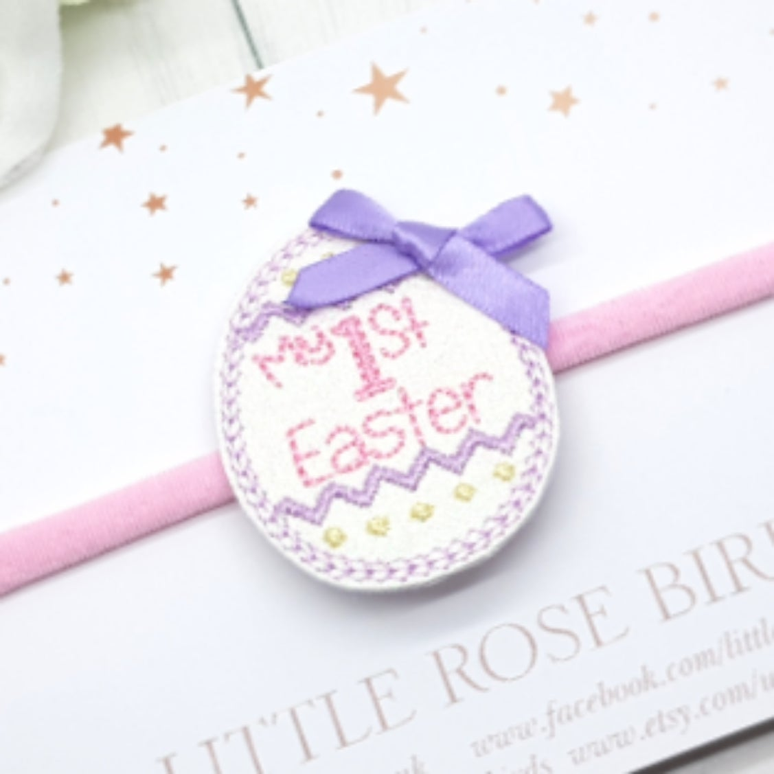 Image of My 1st Easter Bow - Pink & Lilac