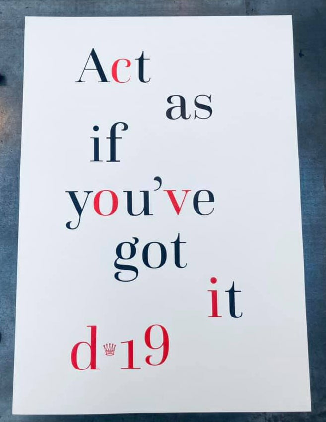 Image of Act as if you've got it