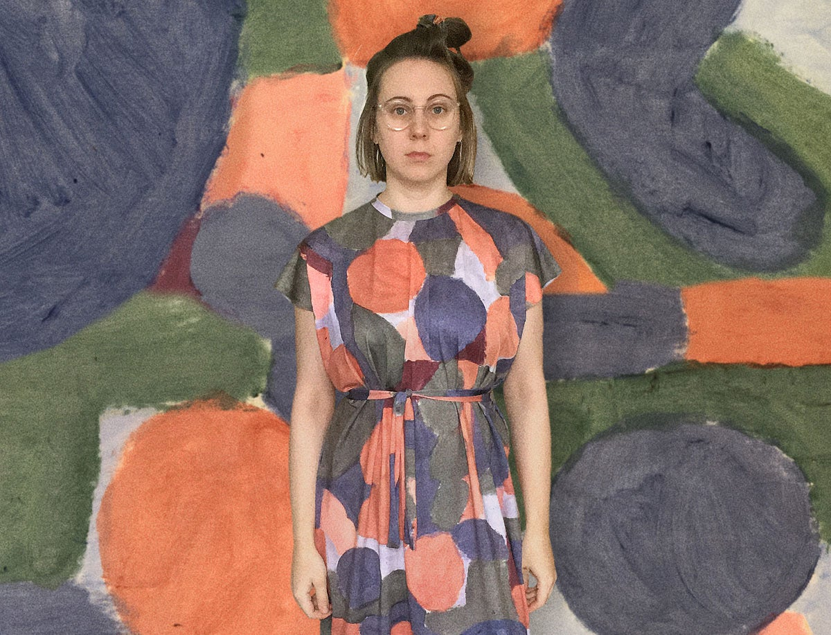 Image of COLOR PAINTED LOOSE DRESS