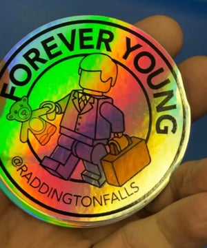 Image of Forever Young Stickers 7 Pack - Free Shipping