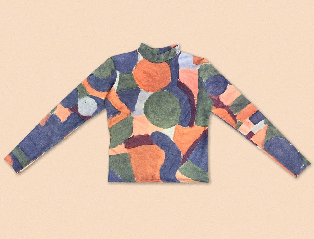 Image of COLOR PAINT LONG SLEEVE TSHITR
