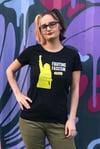 Women fight fascism T-shirt
